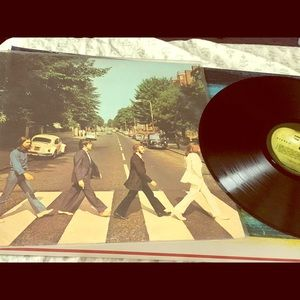 Vinyl records. The BEATLES